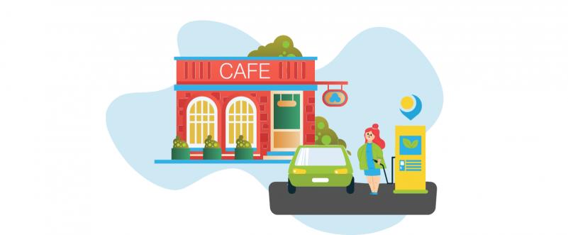 EV charging at restaurants